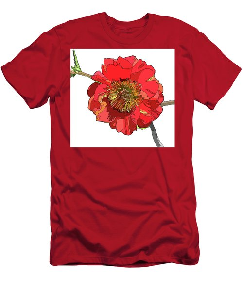 Red Blossom Men's T-Shirt (Slim Fit) by Jamie Downs