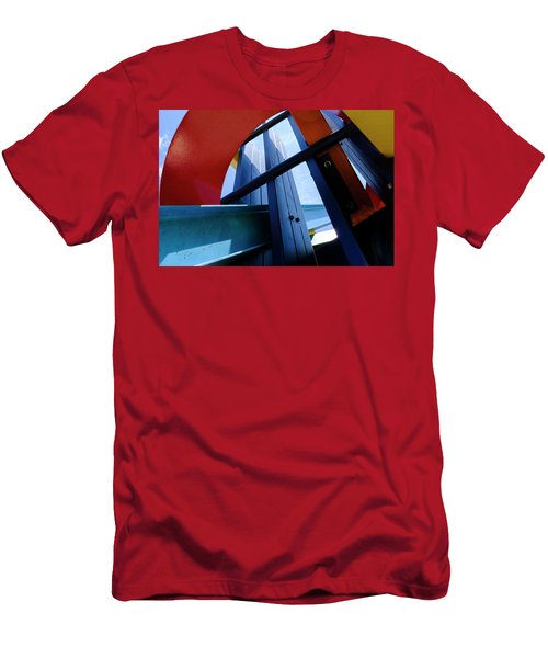 Red Blue And Yellow In Downtown Orlando Florida Men's T-Shirt (Athletic Fit)