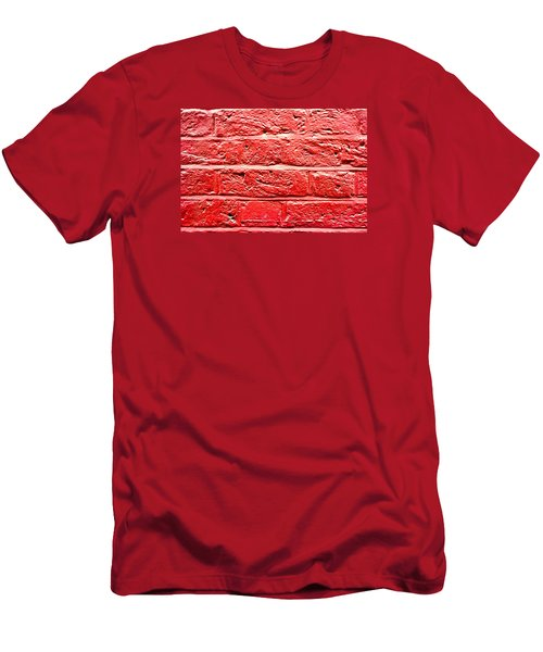 Red Brick Wall Men's T-Shirt (Athletic Fit)