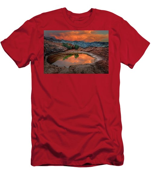Red Canyon Reflection Men's T-Shirt (Athletic Fit)