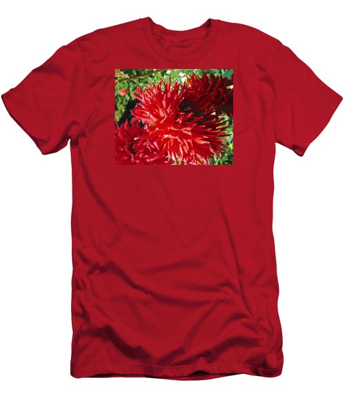 Red Dahlia Pizazz  Men's T-Shirt (Athletic Fit)