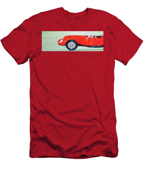 Men's T-Shirt (Athletic Fit) featuring the painting Red Ferrari by Mary Scott