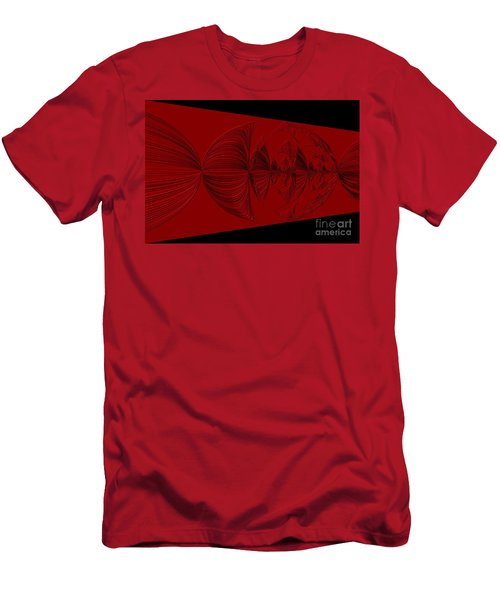 Red And Black Design. Art Men's T-Shirt (Athletic Fit)
