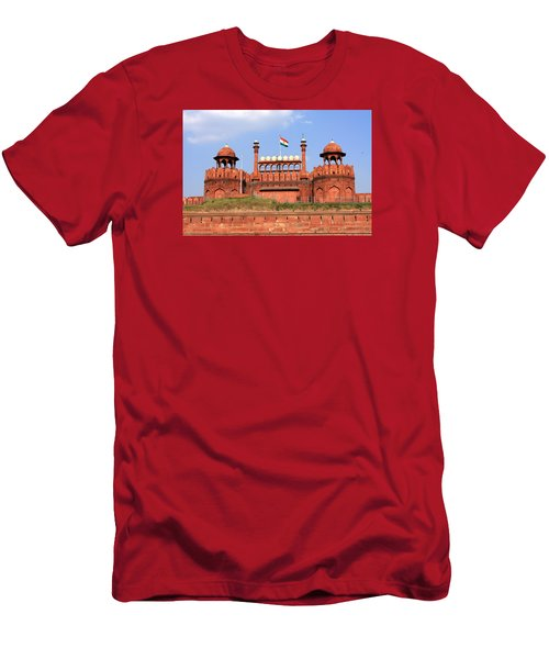 Men's T-Shirt (Athletic Fit) featuring the photograph Red Fort New Delhi by Aidan Moran