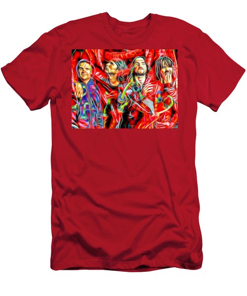 Red Hot Chili Peppers In Color II  Men's T-Shirt (Slim Fit) by Daniel Janda