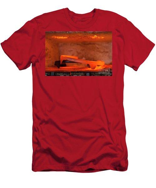 Red Hot Horseshoe Men's T-Shirt (Athletic Fit)