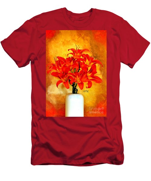 Red Hot Lilies Men's T-Shirt (Athletic Fit)