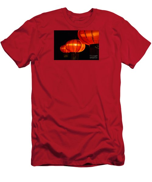 Red Lanterns Men's T-Shirt (Slim Fit) by Rebecca Davis