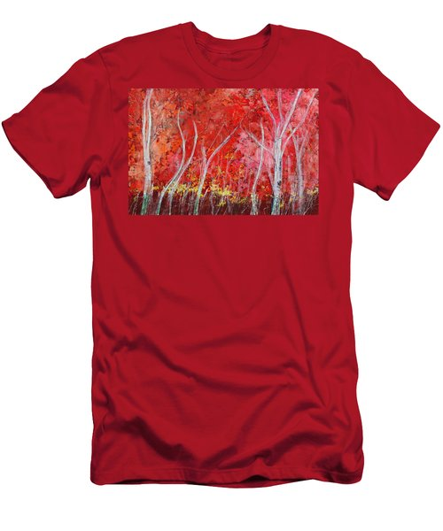 Crimson Leaves Men's T-Shirt (Slim Fit)