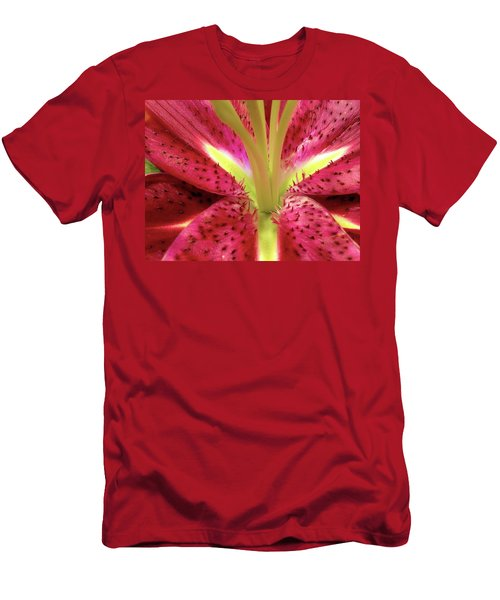 Red Lily Closeup Men's T-Shirt (Athletic Fit)