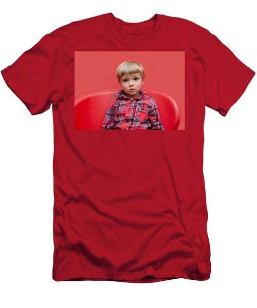 Red On Red Men's T-Shirt (Athletic Fit)