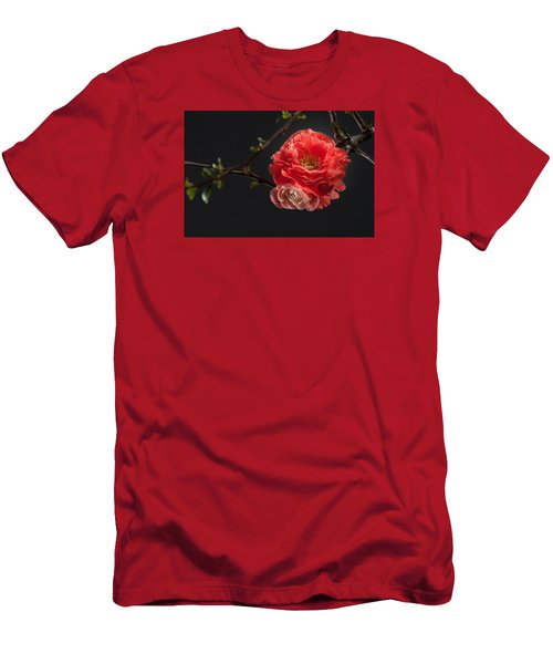 Men's T-Shirt (Slim Fit) featuring the photograph Red Plum In Early Spring by Catherine Lau