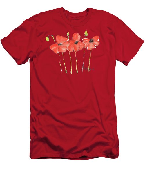 Red Poppy Play Men's T-Shirt (Athletic Fit)