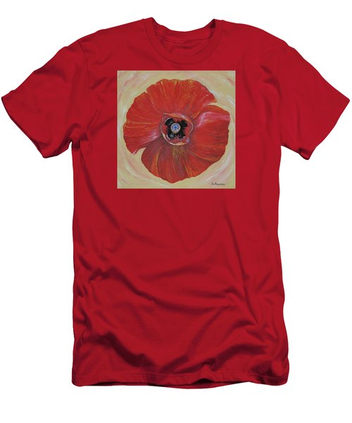 Red Poppy Men's T-Shirt (Slim Fit) by Rita Fetisov