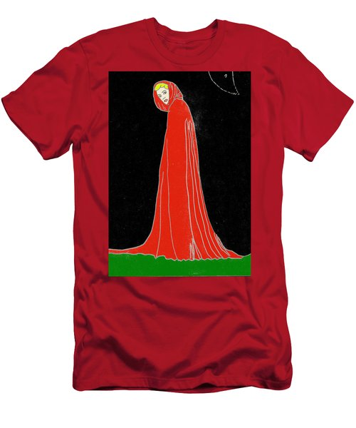 Men's T-Shirt (Athletic Fit) featuring the mixed media Red Riding Hood by W And F Kreations