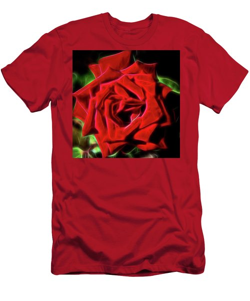 Red Rose 1a Men's T-Shirt (Athletic Fit)