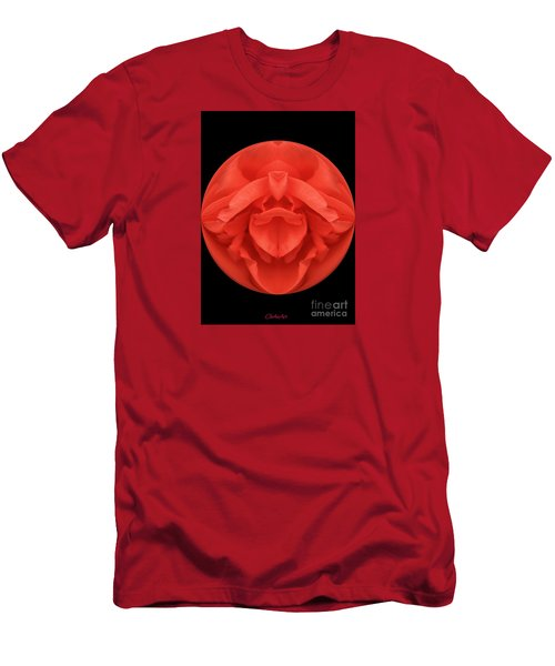 Red Rose Sphere Men's T-Shirt (Athletic Fit)