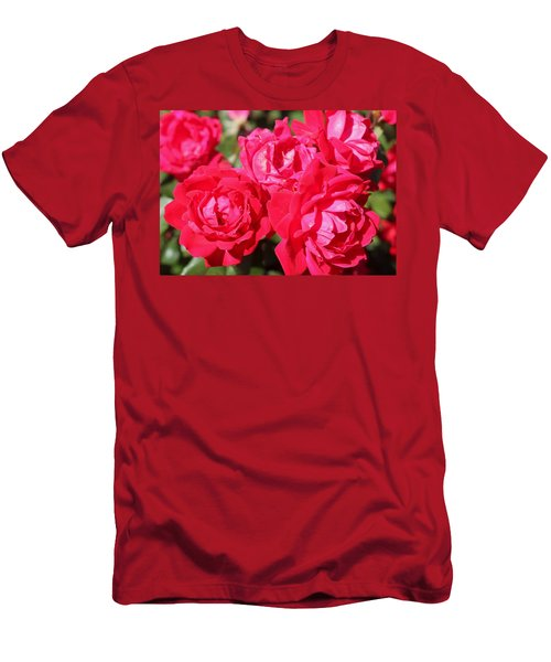Red Roses 1 Men's T-Shirt (Athletic Fit)