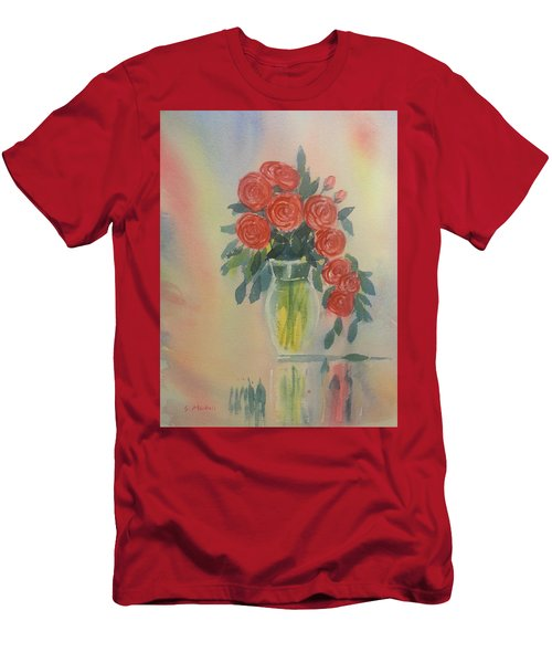 Red Roses For My Valentine Men's T-Shirt (Athletic Fit)