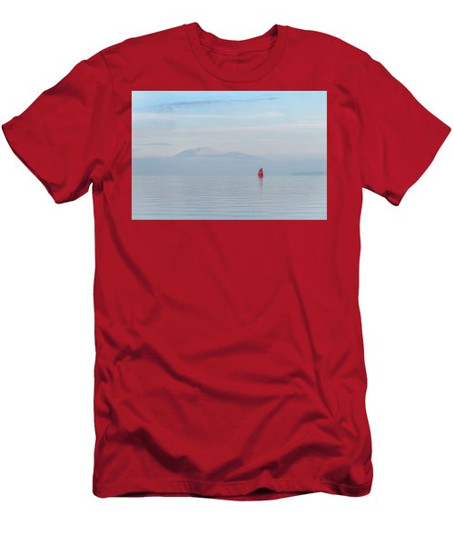 Red Sailboat On Lake Men's T-Shirt (Athletic Fit)