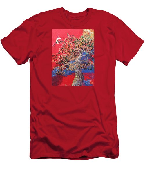 Red Sky And Tree Men's T-Shirt (Athletic Fit)