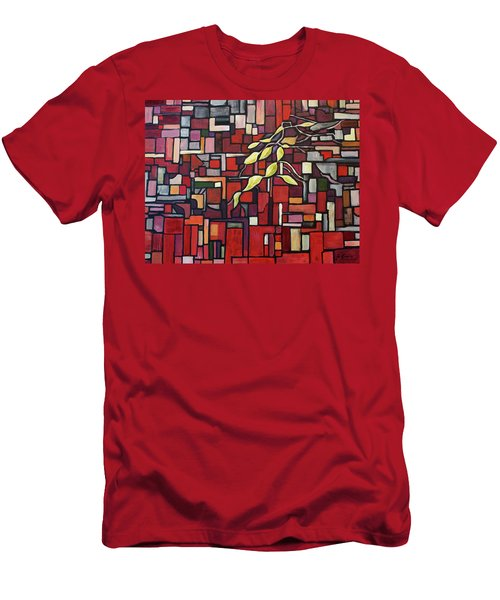 Men's T-Shirt (Slim Fit) featuring the painting Red Tango by Joanne Smoley