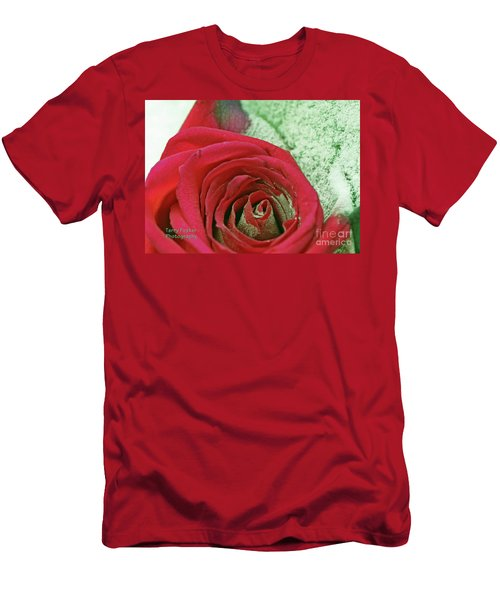 Red Men's T-Shirt (Slim Fit) by Terry Foster