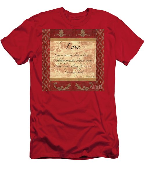 Red Traditional Love Men's T-Shirt (Athletic Fit)