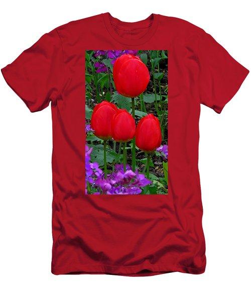 Red Tulips Men's T-Shirt (Slim Fit) by John Topman