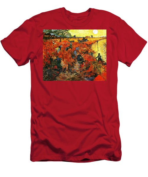 Red Vineyard Men's T-Shirt (Athletic Fit)