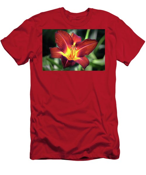 Men's T-Shirt (Slim Fit) featuring the photograph Red Volunteer. by Terence Davis