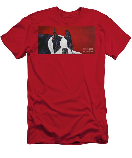 Red White And Black Men's T-Shirt (Athletic Fit)