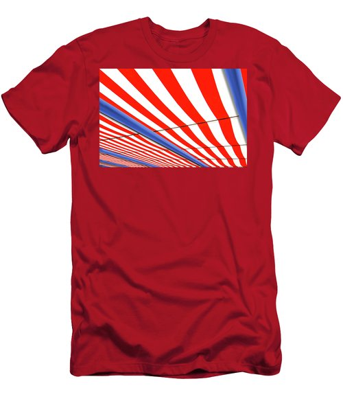 Men's T-Shirt (Athletic Fit) featuring the photograph Red White And Blue by Paul Wear
