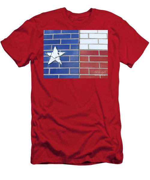Red White Blue With Star Men's T-Shirt (Slim Fit) by Erick Schmidt
