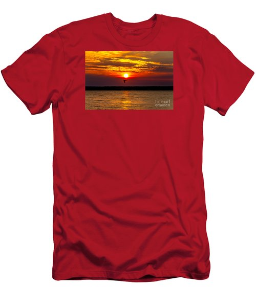 Men's T-Shirt (Athletic Fit) featuring the photograph Redeye Flight by William Norton