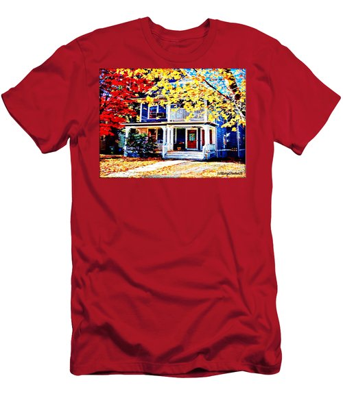 Reds And Yellows Men's T-Shirt (Slim Fit) by MaryLee Parker