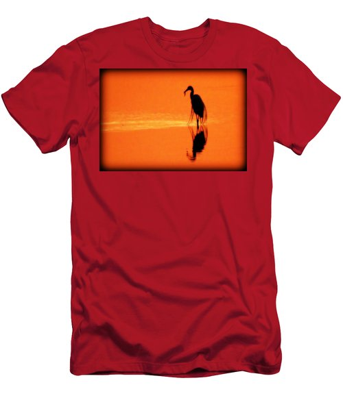 Reflections Of A Heron Men's T-Shirt (Athletic Fit)