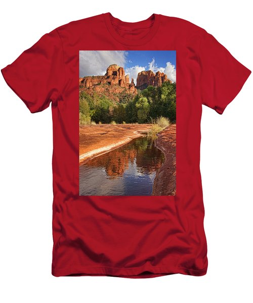Reflections Of Cathedral Rock Men's T-Shirt (Athletic Fit)