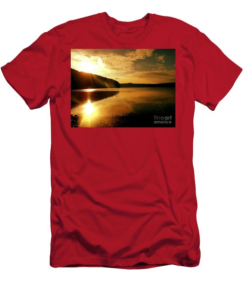Reflections Of The Day Men's T-Shirt (Slim Fit) by Scott D Van Osdol