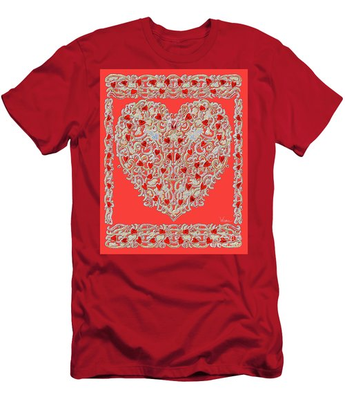 Renaissance Style Heart Men's T-Shirt (Athletic Fit)