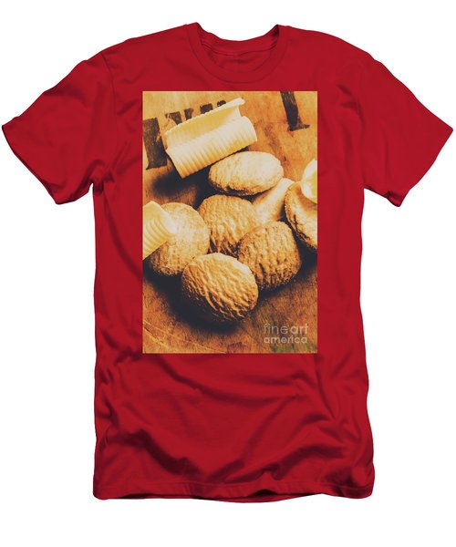 Retro Shortbread Biscuits In Old Kitchen Men's T-Shirt (Athletic Fit)