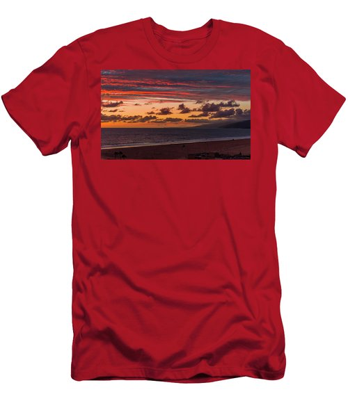 Ribbons Of Red Men's T-Shirt (Athletic Fit)