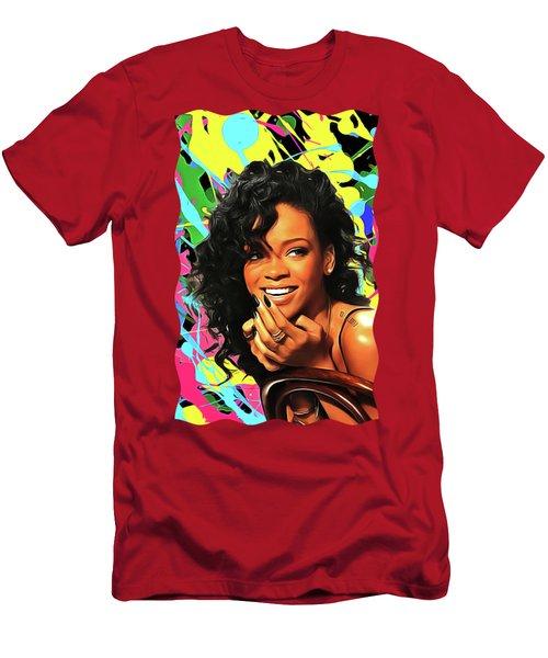 Rihanna - Celebrity Art Men's T-Shirt (Athletic Fit)