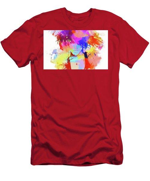 Rihanna Paint Splatter Men's T-Shirt (Slim Fit) by Dan Sproul