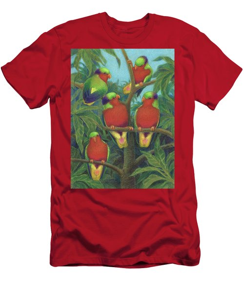 Rimatara Lorikeets Men's T-Shirt (Athletic Fit)