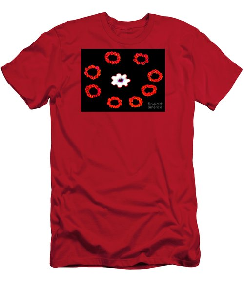 Men's T-Shirt (Slim Fit) featuring the photograph Ring Around A Posey - Modern Art by Merton Allen