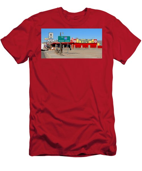 Roadkill Cafe, Route 66, Seligman Arizona Men's T-Shirt (Athletic Fit)