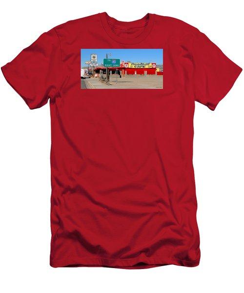 Roadkill Cafe, Route 66, Seligman Arizona Men's T-Shirt (Athletic Fit)