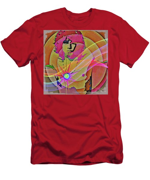 Men's T-Shirt (Athletic Fit) featuring the digital art Rock Star by Eleni Mac Synodinos