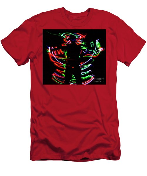 Men's T-Shirt (Slim Fit) featuring the photograph Rockin' In The Dead Of Night by Xn Tyler